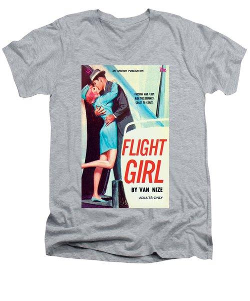 Flight Girl Men's V-Neck T-Shirt