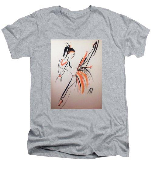 Flight Of Fancy Men's V-Neck T-Shirt by Judith Desrosiers