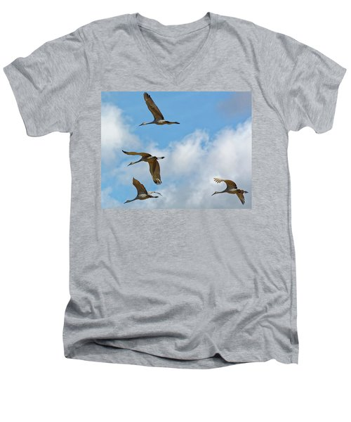 Flight Of The Cranes Men's V-Neck T-Shirt