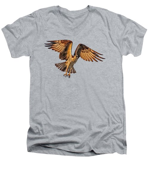 Flight Of The Osprey Men's V-Neck T-Shirt