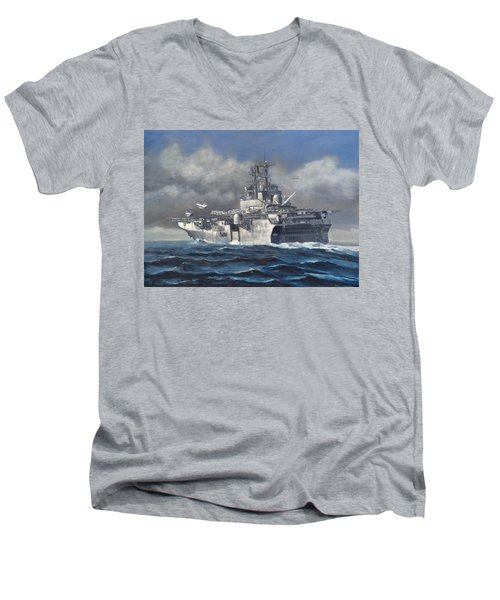 Flight Ops Men's V-Neck T-Shirt by Stephen Roberson
