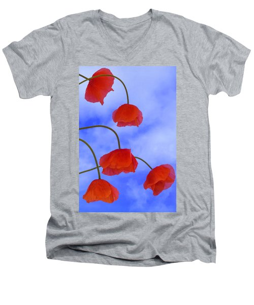 Flight Red Men's V-Neck T-Shirt