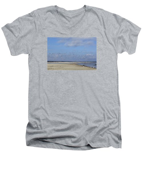 Flight Men's V-Neck T-Shirt by Tammy Schneider