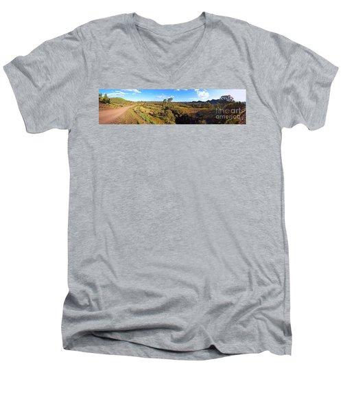 Flinders Ranges Men's V-Neck T-Shirt by Bill Robinson