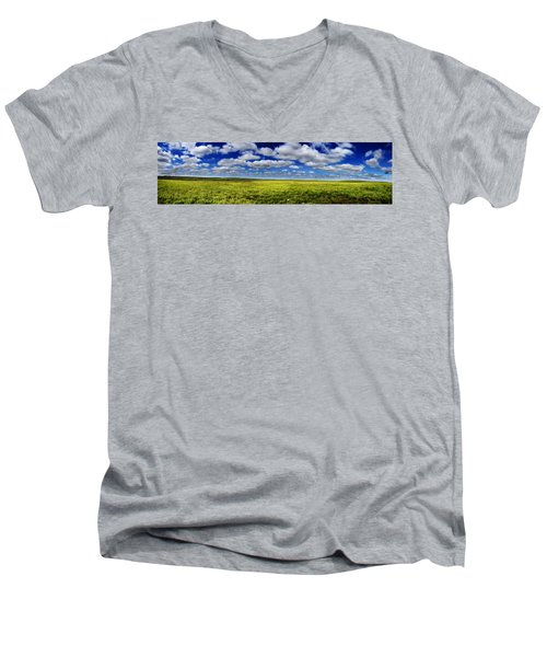 Flint Hills Panorama 1 Men's V-Neck T-Shirt