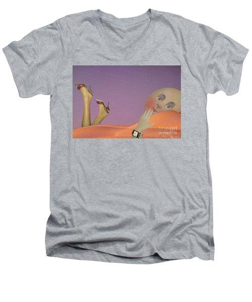 Flirt Men's V-Neck T-Shirt by Lyric Lucas