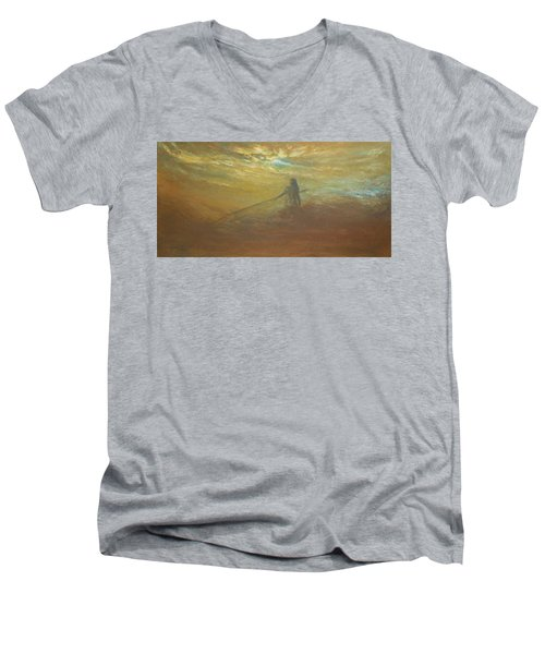 Float On Men's V-Neck T-Shirt