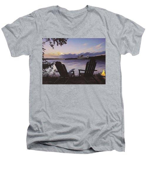 Float Plane Men's V-Neck T-Shirt