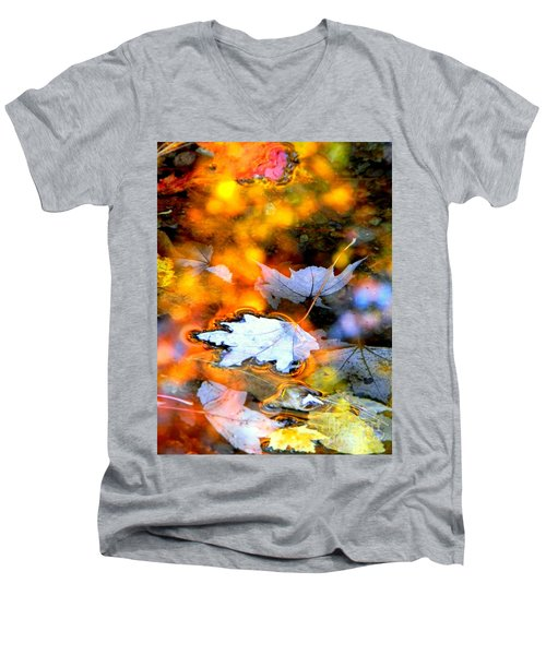Floating Men's V-Neck T-Shirt by Elfriede Fulda