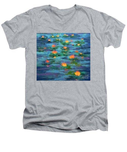 Floating Gems Men's V-Neck T-Shirt by Holly Martinson