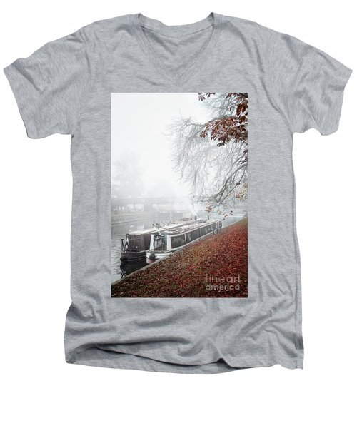 Floating Homes Of  River Cam Men's V-Neck T-Shirt by Eden Baed