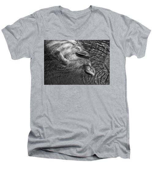 Floating Manatee Men's V-Neck T-Shirt