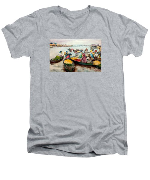 Floating Market Men's V-Neck T-Shirt