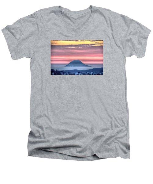 Floating Mountain Men's V-Neck T-Shirt by Fiskr Larsen