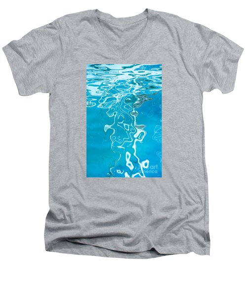 Floating On Blue 38 Men's V-Neck T-Shirt by Wendy Wilton