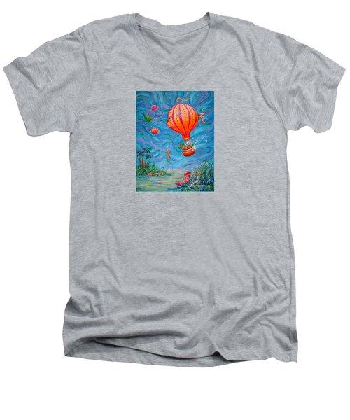 Floating Under The Sea Men's V-Neck T-Shirt
