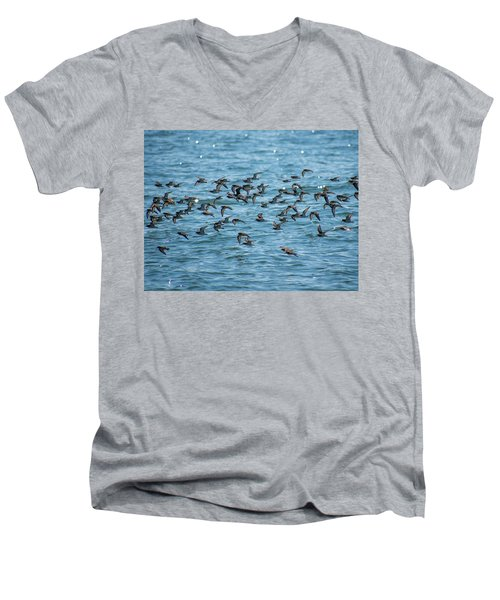Flock Of Birds Men's V-Neck T-Shirt