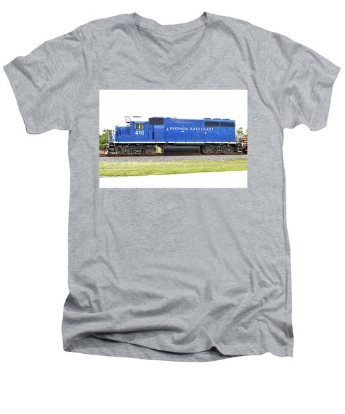 Floirda East Coast Engine Men's V-Neck T-Shirt
