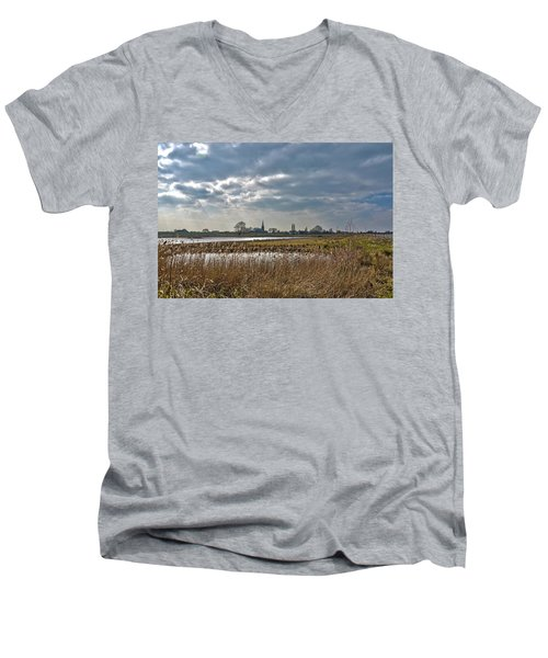 Floodplains Near Culemborg Men's V-Neck T-Shirt