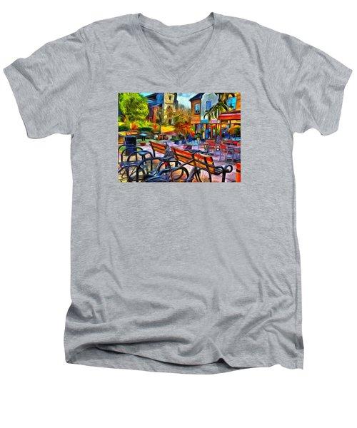Floppy Bikes And Empty Benches Men's V-Neck T-Shirt