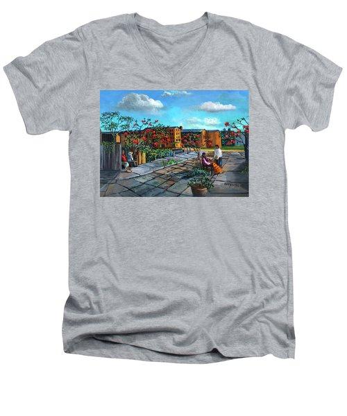 Flor De Noche Buena Men's V-Neck T-Shirt