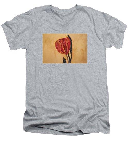 Flor Del Alma Men's V-Neck T-Shirt by The Art Of Marilyn Ridoutt-Greene