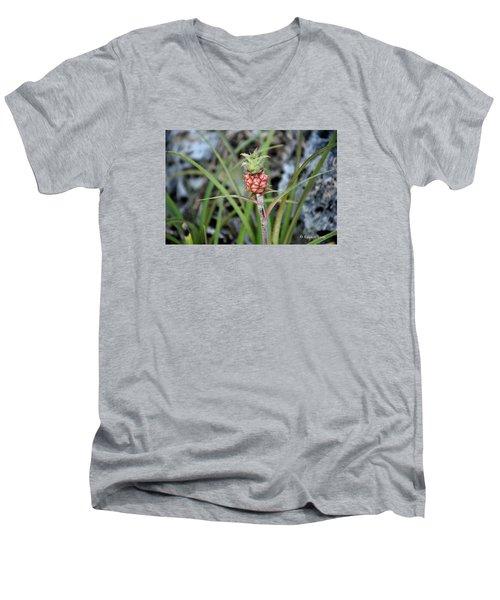 Flor Pina Men's V-Neck T-Shirt by Edgar Torres