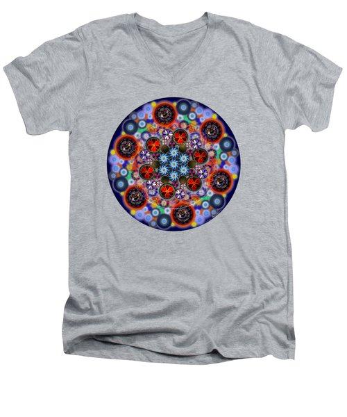 Flora Viscera Mandala Men's V-Neck T-Shirt