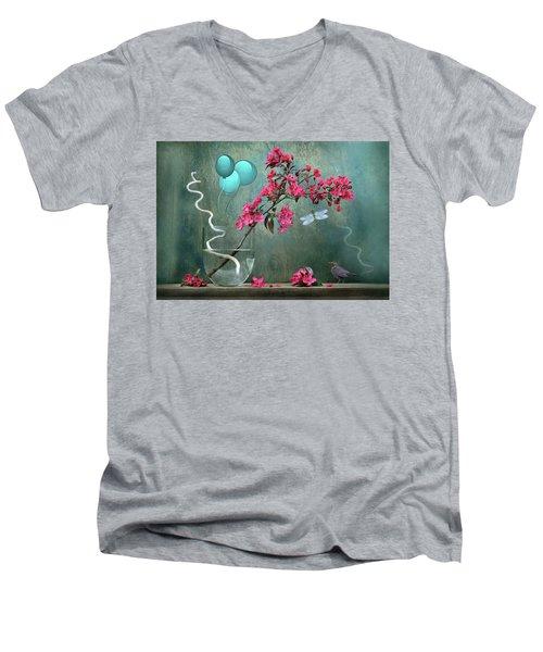 Floral 2 Men's V-Neck T-Shirt