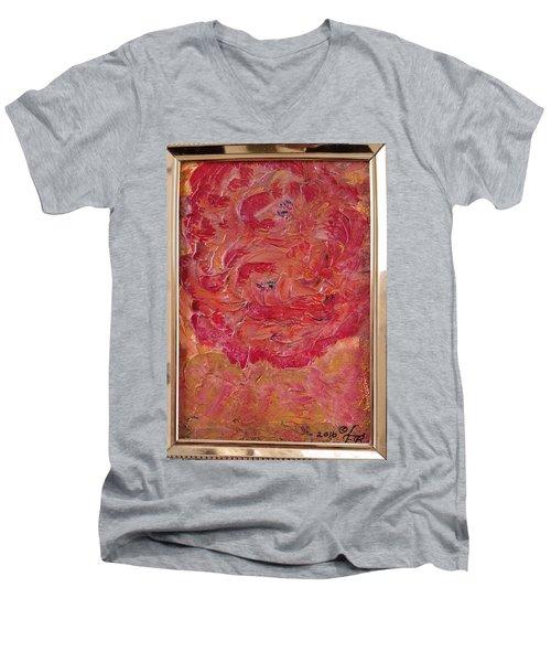 Floral Abstract 1 Men's V-Neck T-Shirt
