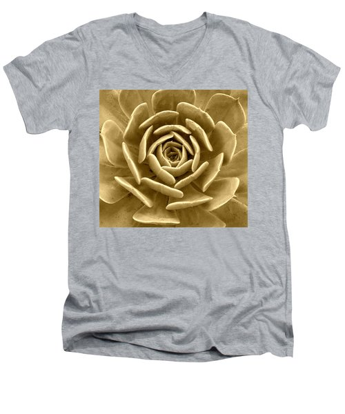 Floral Abstract Men's V-Neck T-Shirt