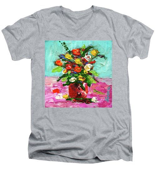 Floral Arrangement Men's V-Neck T-Shirt