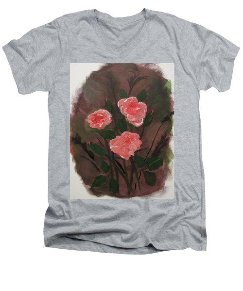 Floral Art Men's V-Neck T-Shirt