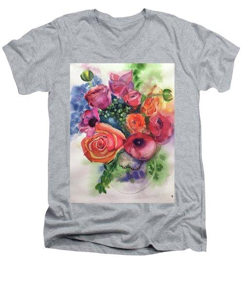 Floral Fantasy Men's V-Neck T-Shirt
