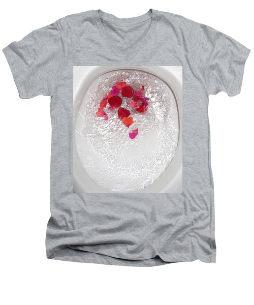 Floral Flush Men's V-Neck T-Shirt