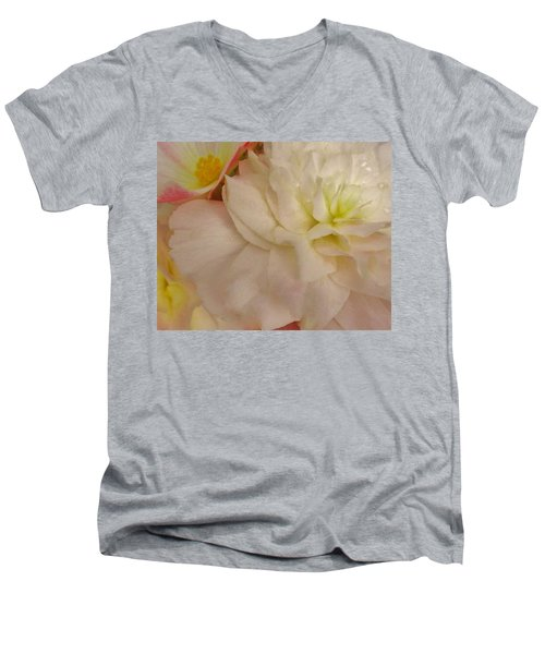 Floral Harmony Men's V-Neck T-Shirt