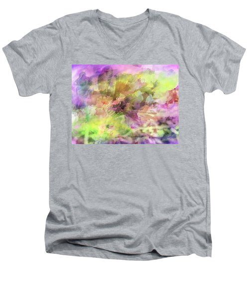 Floral Pastel Abstract Men's V-Neck T-Shirt