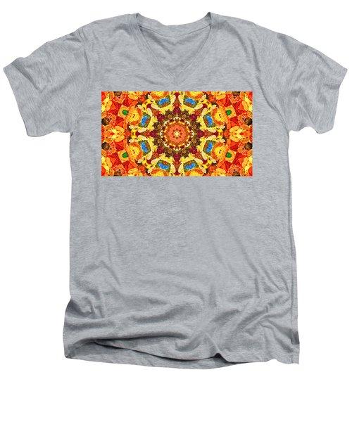 Mandala Of The Sun Men's V-Neck T-Shirt