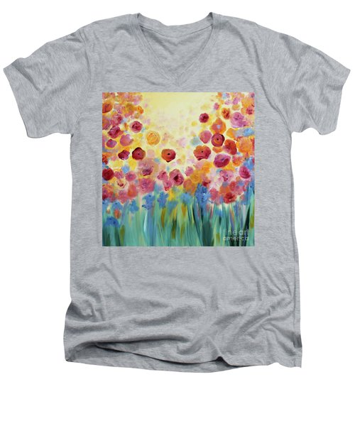 Floral Splendor II Men's V-Neck T-Shirt