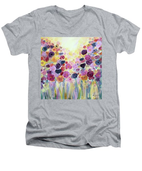 Floral Splendor IIi Men's V-Neck T-Shirt