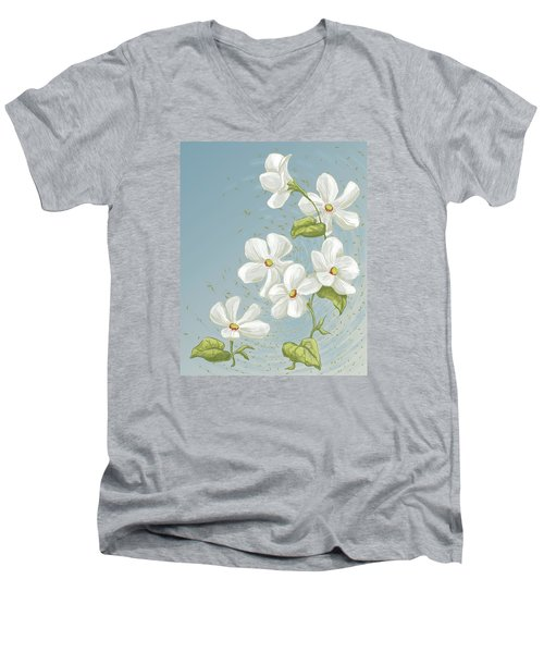 Floral Whorl Men's V-Neck T-Shirt