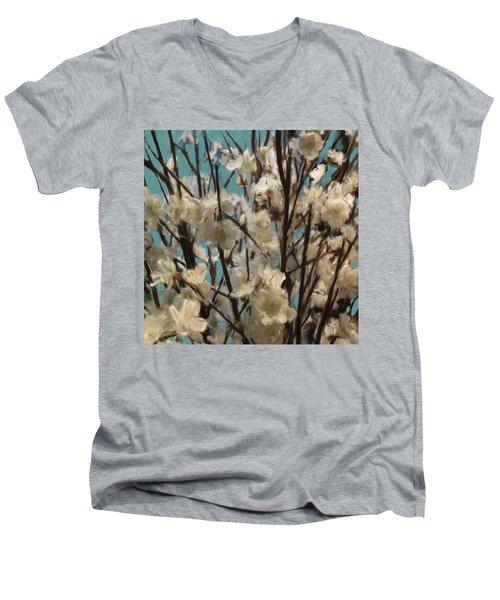 Floral02 Men's V-Neck T-Shirt