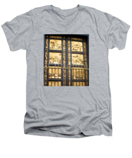 Florence Baptistry Doors Men's V-Neck T-Shirt by Lisa Boyd