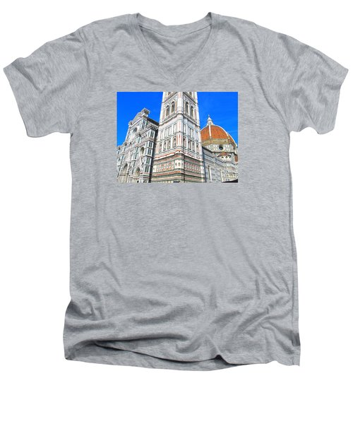 Florence Duomo Cathedral Men's V-Neck T-Shirt by Lisa Boyd