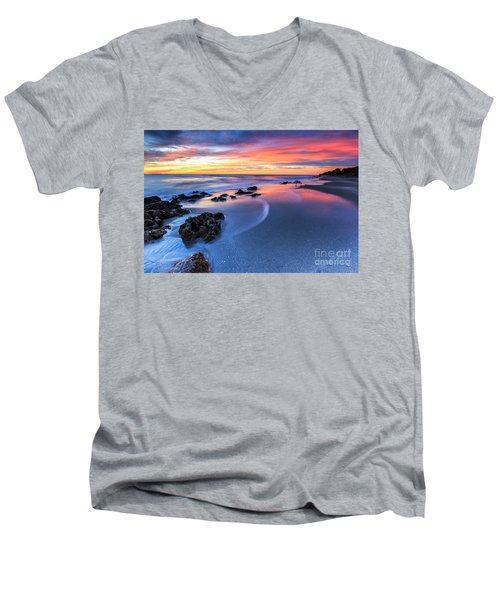 Florida Beach Sunset 4 Men's V-Neck T-Shirt