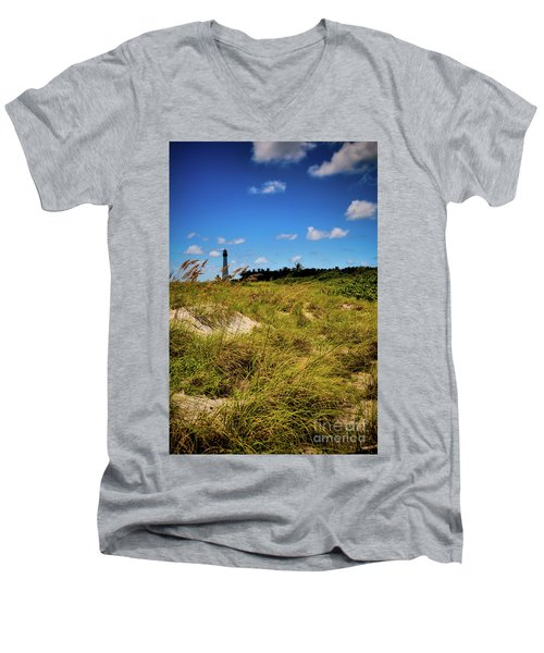 Men's V-Neck T-Shirt featuring the photograph Florida Lighthouse  by Kelly Wade