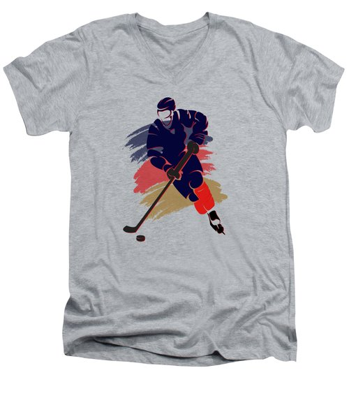 Florida Panthers Player Shirt Men's V-Neck T-Shirt by Joe Hamilton