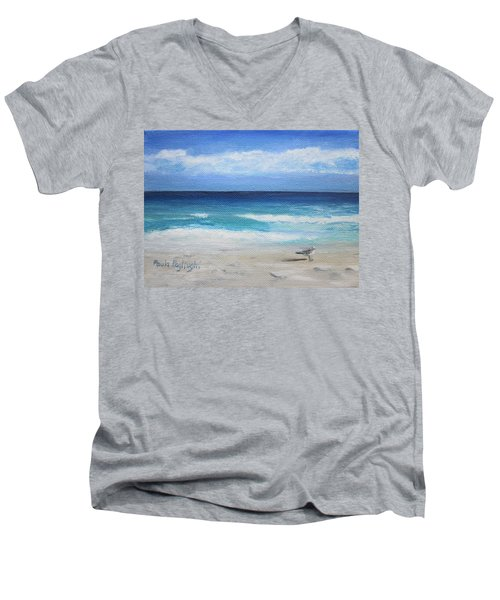 Florida Seagull Men's V-Neck T-Shirt