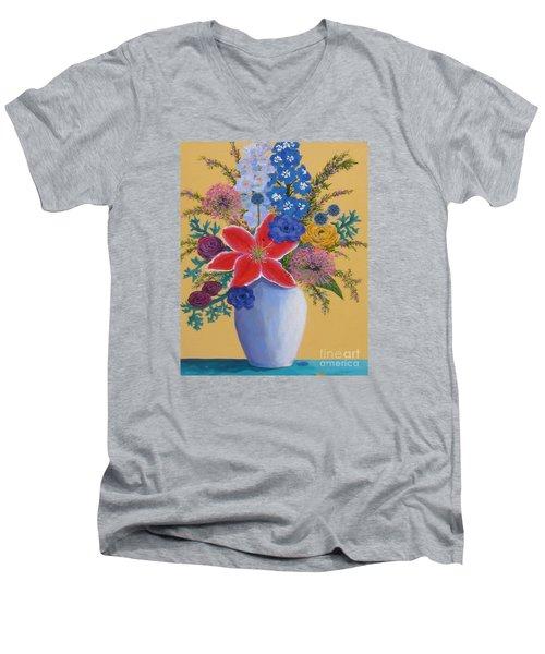 Florist's Creation Men's V-Neck T-Shirt by Anne Marie Brown