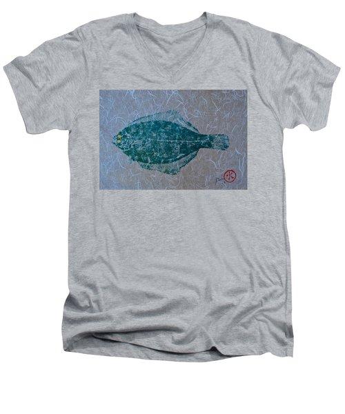 Flounder - Winter Flounder - Black Back Men's V-Neck T-Shirt